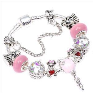 New 18cm Pink Unicorn Charm Bracelet